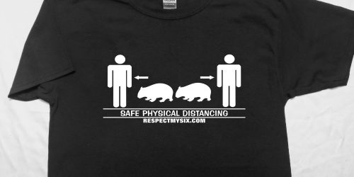 wombat Social distancing Canada physical distance shirt funny six feet